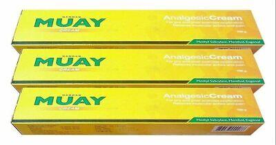 Namman Muay Analgesic Cream 100 Gram X 3 -  Ships Free From USA