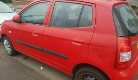Kia Picanto Front Left Side Door ONLY Red 2004