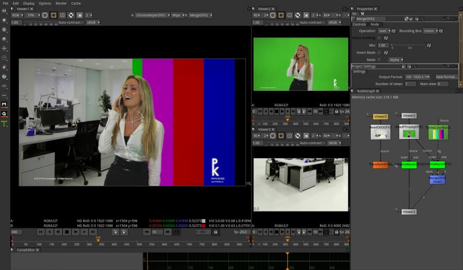Natron (Video Compositing Green Screen Chromakey Software) Windows/Mac CD