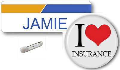 Jamie Progressive Insurance Name Badge   Button Halloween Pin Free Shipping