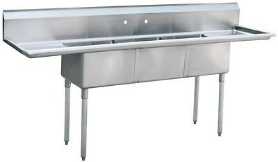 Atosa Mrsa-3-d 90 3 Compartment Sink Nsf Stainless Steel