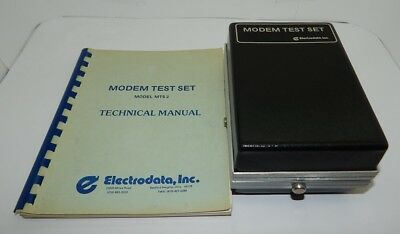 Working Electrodata Modem Test Set With Manual Model Mts2 R16177