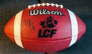 Authentic LCF Football SIGNED AUTOGRAPHED ALOUETTES
