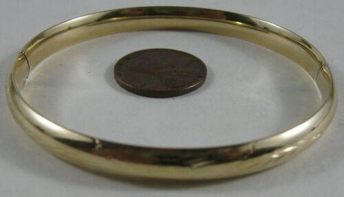 Vintage 14K Solid Gold Fancy Bangle Gold Bracelet 7.8gm