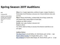 KDC: Spring 2017 Auditions