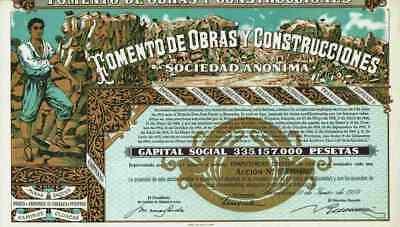 Fomento de Obras Construcciones 1970 Barcelona FCC Madrid Bilbao Bill Gates 500