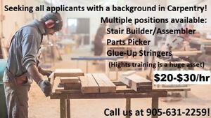 General Labour - Carpentry - Various Positions Available!