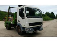 2001 DAF 45 7.5 ton mini skip lorry