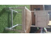 Shabby chic dining chairs x 2