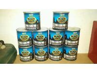 10 x 1 Litre Tins of Black Jack Bitumen & Flashing Primer