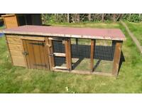 Rabbit/very small dog hutch/kennel and run available 2.05m x 0.93m x 0.85m
