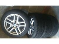 BMW ALLOYS WITH WINTER TYRES.