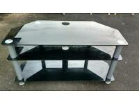 Glass large TV stand