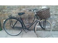 Vintage/antique Dutch style ladies town bike with basket. Fully serviced. 57cm