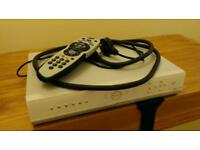 Silver Sky Box with remote and cables