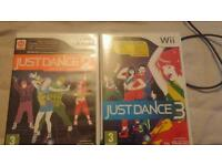 Just dance 2 and 3