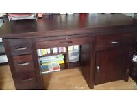 *Further Reduced* Solid oak, mahogany coloured computer desk