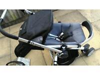 Quinny buzz pushchair, seat, rain cover, bag, bar