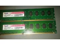 Vdata 4gb (2x2gb) ddr3 240pin Ram