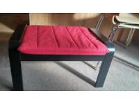 IKEA Puang footstool, with washable cover. Good condition