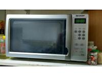Silver Microwave Oven