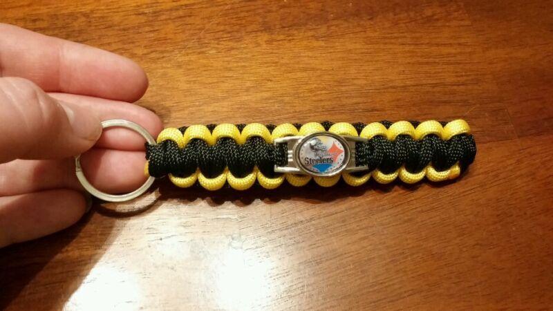 Pittsburgh Steelers custom paracord keychain