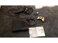Xbox 360e (latest model) 250gb +ltd edition gold controller