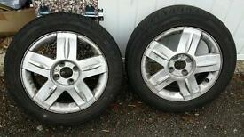 2 renault clio alloy wheels with tyres