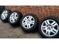 """VW 18"""" alloy wheels. Great condition, tyres good as new"""