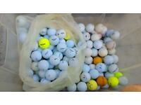100 mixed used golf balls