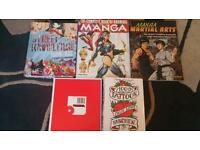 Manga/anime, tattoos, artist books excellent condition.