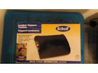 Scholl lumbar support cushion