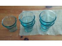 5 Recycled Glass Tumblers