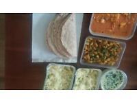 Homemade vegetarian Tiffin food
