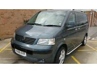 VW TRANSPORTER T5 GENUINE FACTORY KOMBI IN EXCELLENT ALL ROUND CONDITION 2500cc,