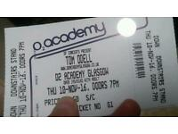 2 Tom Odell standing tickets at O2 academy
