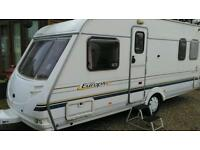 2001 sterling Europa 490 4 berth fixed bed with motor mover v g c