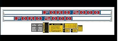 Ford Dkfd2000d Replacement Decal Set Ford 2000 Diesel Tractors From 1968-1975