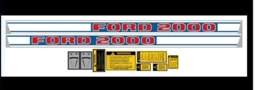 Ford  DKFD2000D REPLACEMENT DECAL SET FORD 2000 DIESEL TRACT