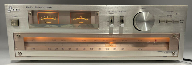 Nice Vintage Jana Am/Fm Stereo Tuner Model 3000 T Made In Korea Tested & Works!