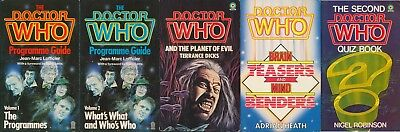 5 Doctor Who Books, Target UK Paperback Book.