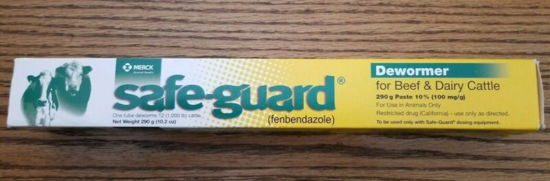 Safeguard Fenbendazole 290g Beef Dairy Cattle Paste Dewormer 1 Tube EXP 4/2022+