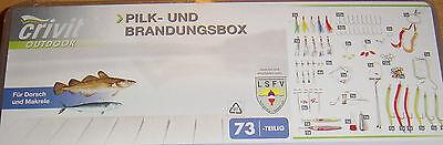 Angelzubehörbox Pilk-und Brandungsbox,73-teilig für Dorsch/Makrele,NEU!