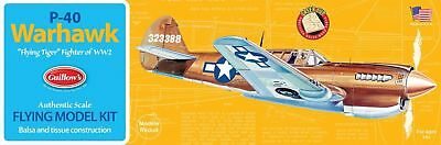 Balsa Wood Airplane Kits (Guillow's Curtiss P-40 Warhawk Balsa Wood Model Airplane Kit WWII Plane )