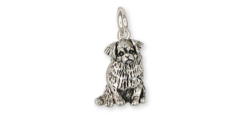 Tibetan Spaniel Charm Handmade Sterling Silver Dog Jewelry TS3-C