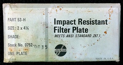 Impact Resistant Filter Platelens Jackson Part 53-h Stock No. 0752-0035