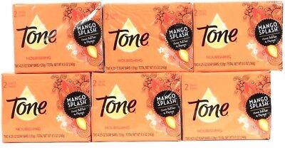 6 Packages Tone Mango Splash Cocoa Butter & Papaya Nourishing 2ct Soap Bars ()