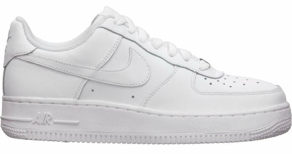 Nike Air Force 1 LOW GS SIZE Leather Basketball Shoes 314192 117 YOUTH White DS