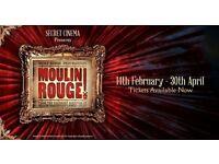 2 x Secret Cinema - Moulin Rouge opening night tickets (Feb 14th)