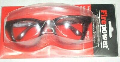 Victor Firepower 1423-4126 Clear Safety Glasses Old School Style Frame 48mm Lens